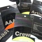 Visitenkarten aus Vinyl: Backstagepasses (Foto: Christian Trögele)