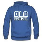 Oldschool-Hoody in blau