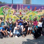 Mit Hushtours an der Graffiti Wall of Fame